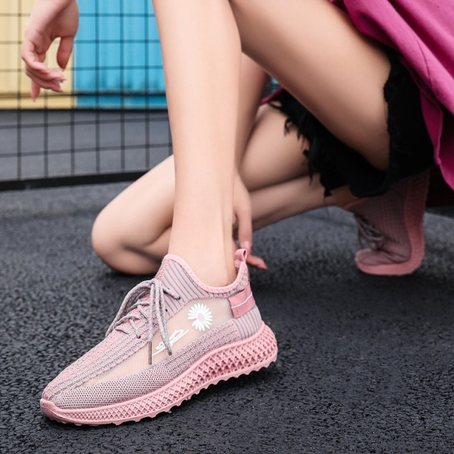 男女休闲百搭飞织运动网鞋