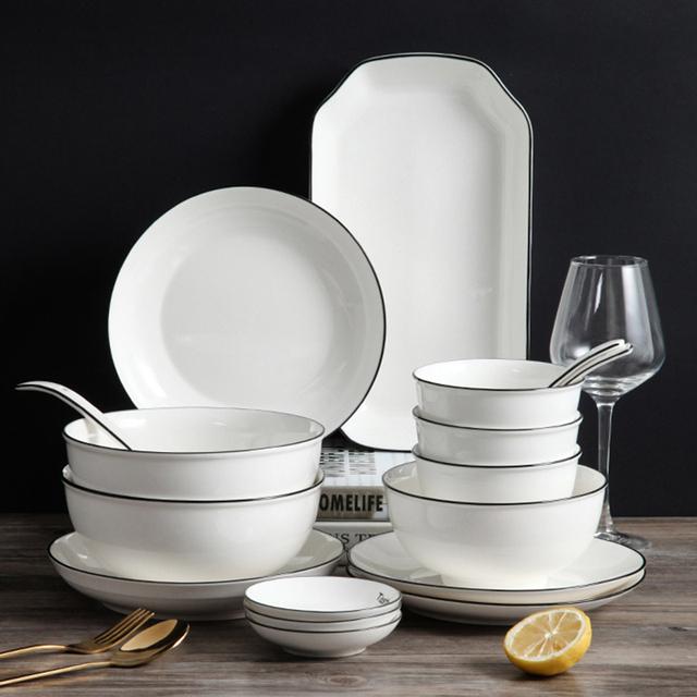 陶瓷碗碟套装10件套