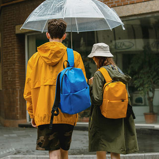 森馬雙肩包男女純色書包