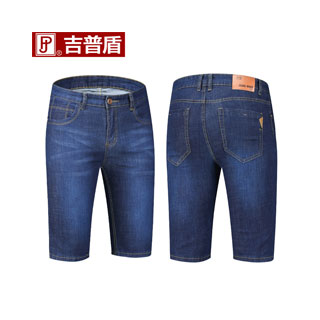 吉普盾牛仔褲短褲5分褲
