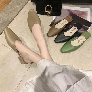 時尚尖頭半包拖鞋