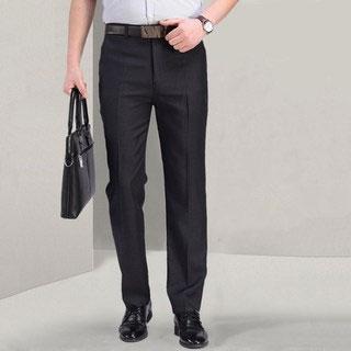 中年薄款寬松直筒休閑褲