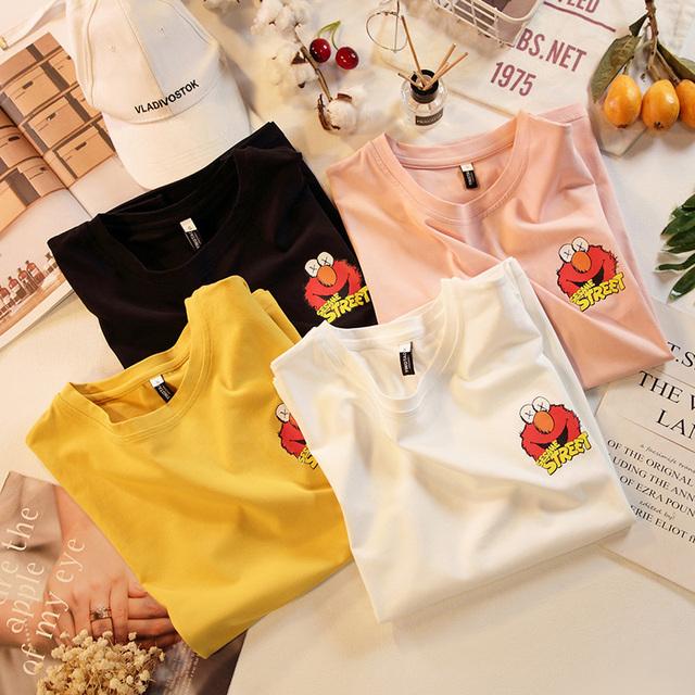 純棉卡通印花短袖