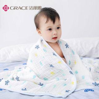 潔麗雅嬰兒水洗紗布浴巾