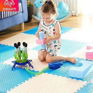 儿童卧室拼图地板爬行垫