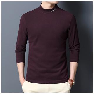 啄木鸟加厚纯色男士羊毛衫
