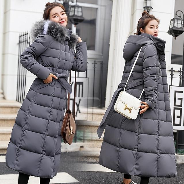中長款女外套加厚羽絨棉服