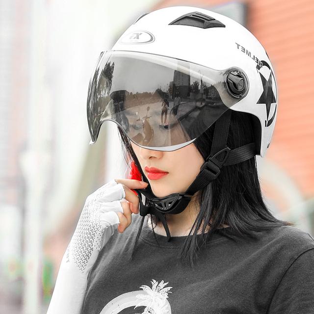 防晒轻便透气电动车头盔