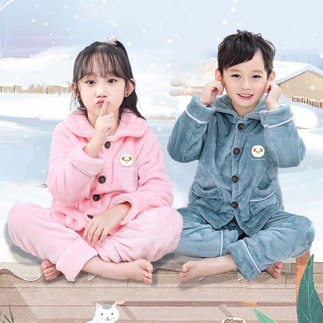 法兰绒儿童睡衣两件套