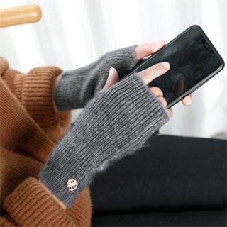 貂绒半指保暖防寒学生手套