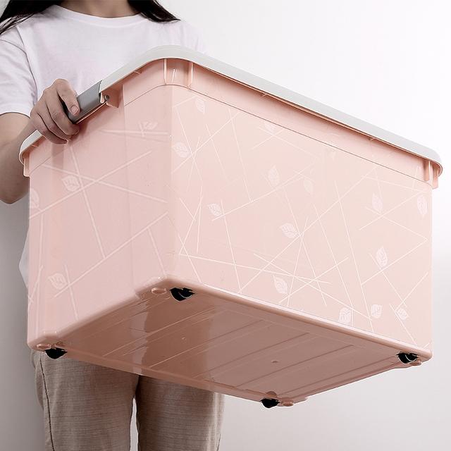 8L+15L 收纳箱塑料整理箱