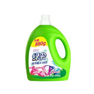 拍2绿伞洗衣液12斤