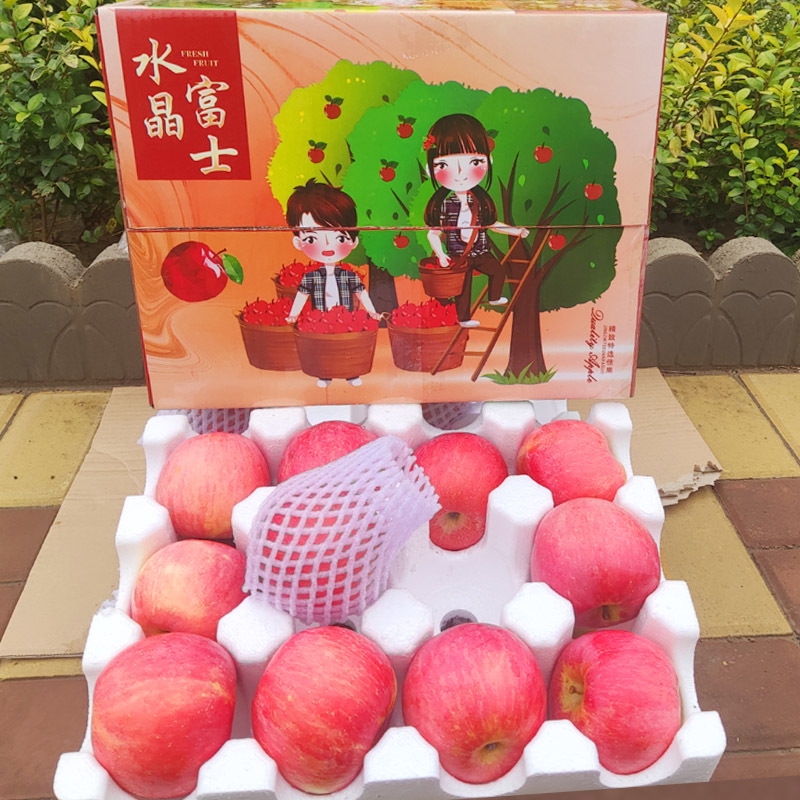 水晶红富士苹果5斤