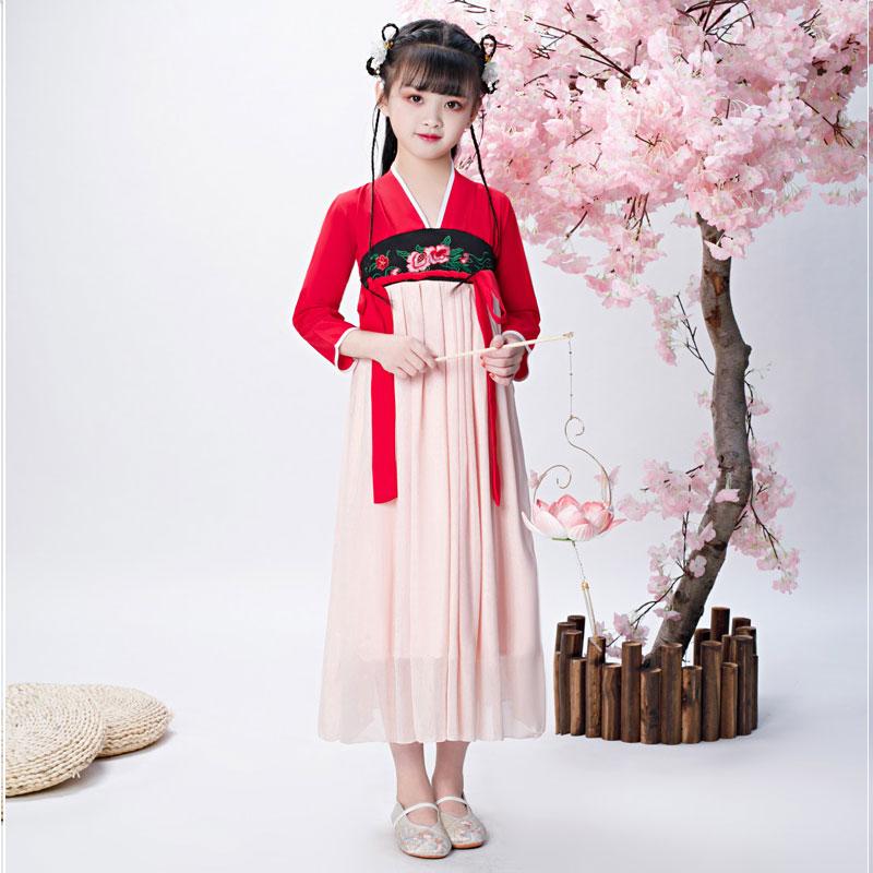 女童汉服中国风广袖儿童樱花古装