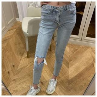 春季新款高腰牛仔裤