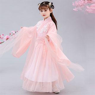 女童古装秋樱花汉服
