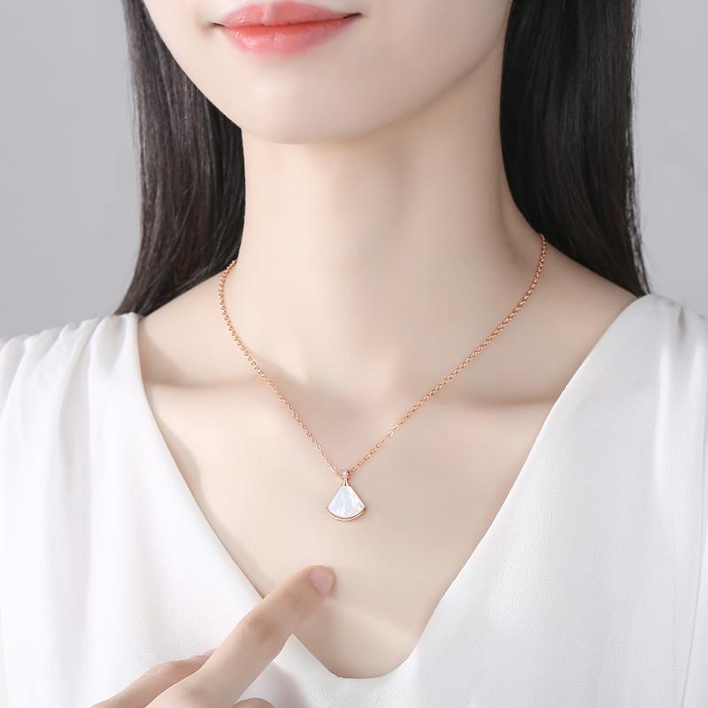 S925银小裙子项链