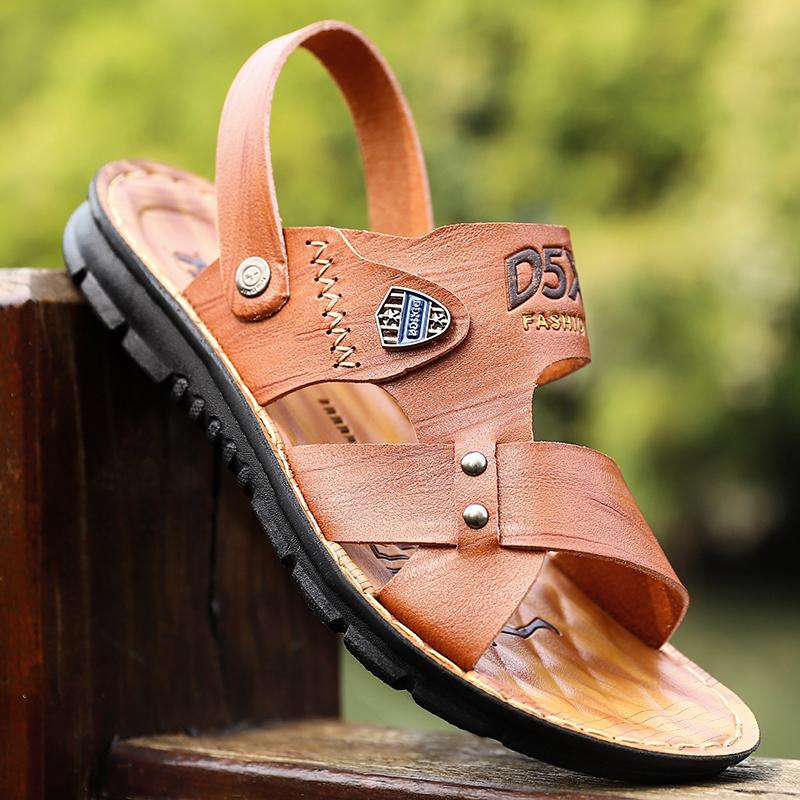 男士凉鞋真皮凉拖鞋