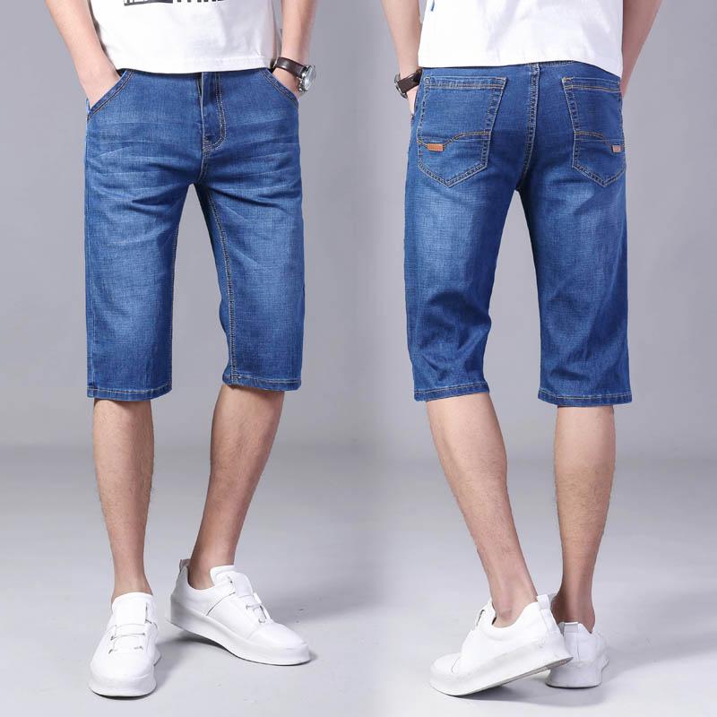 夏季薄款男士牛仔短裤