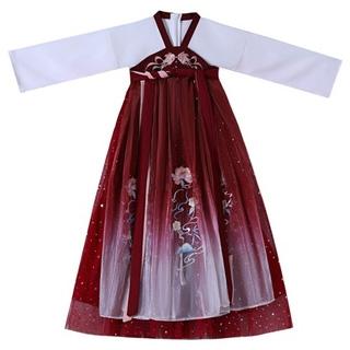 兒童漢服女童超仙連衣裙