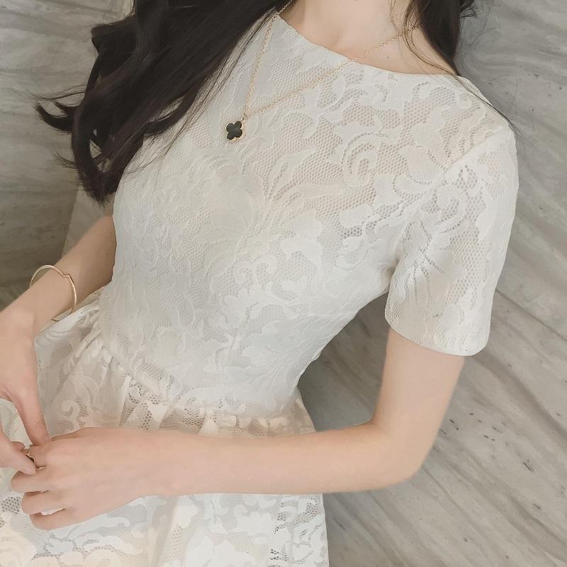 2021夏季新款白色洋装小礼服