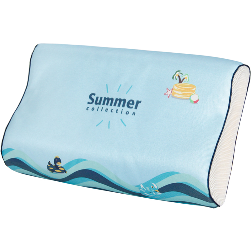 夏季护颈冰丝透气记忆棉凉枕