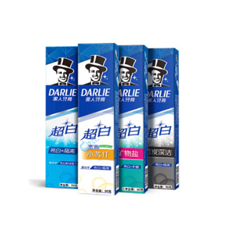 【黑人】超白小苏打牙膏120g*3