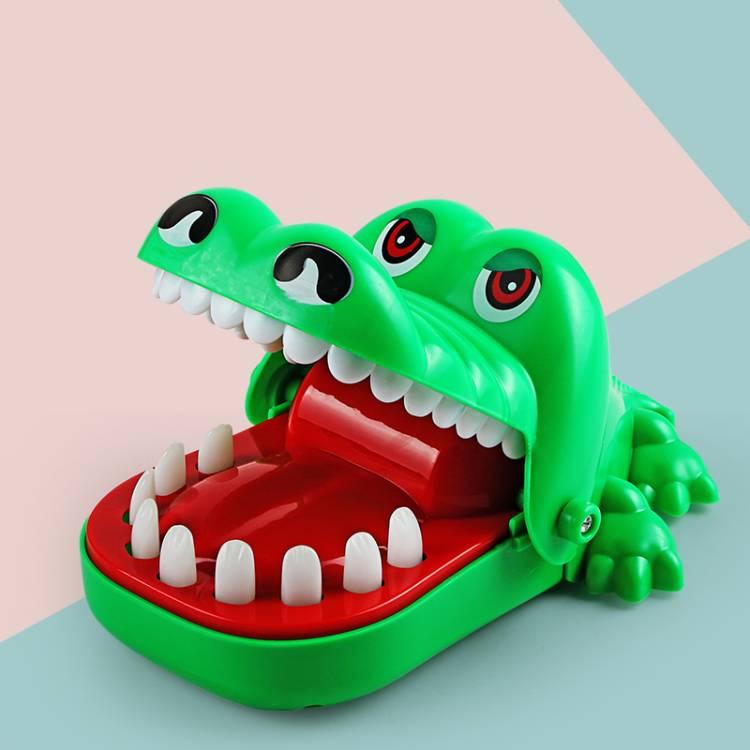 網紅同款按牙齒咬人鱷魚玩具