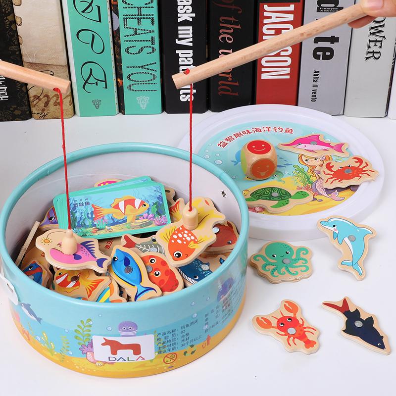 儿童早教益智力磁性钓鱼玩具