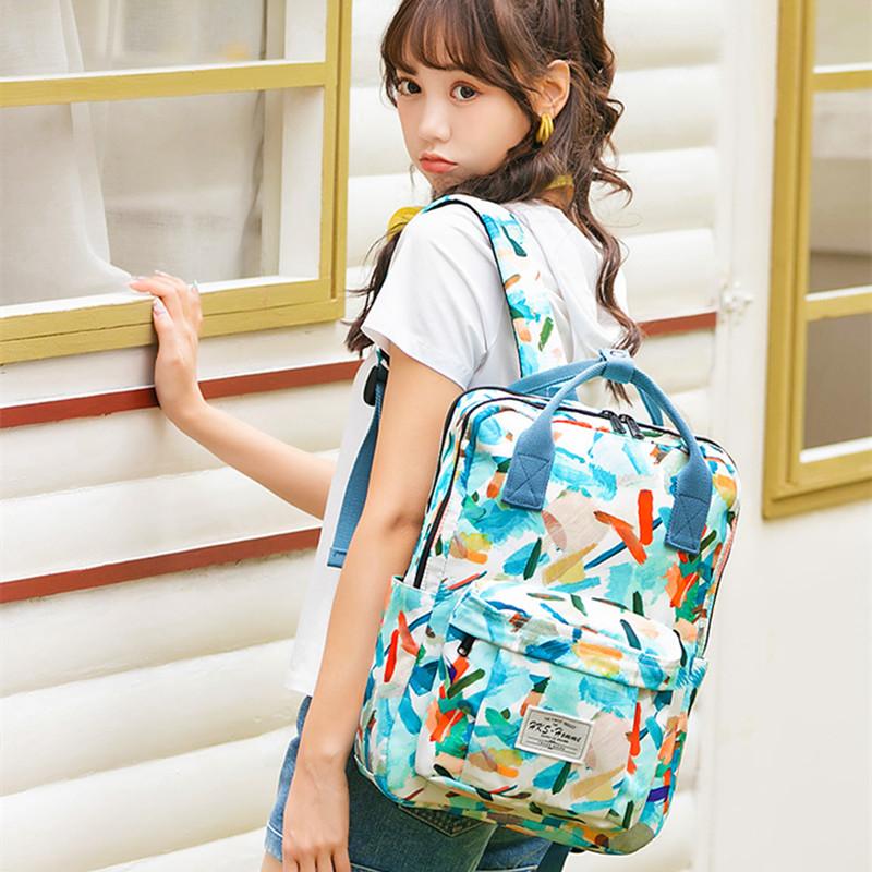 双肩包女生夏大容量手提旅行背包