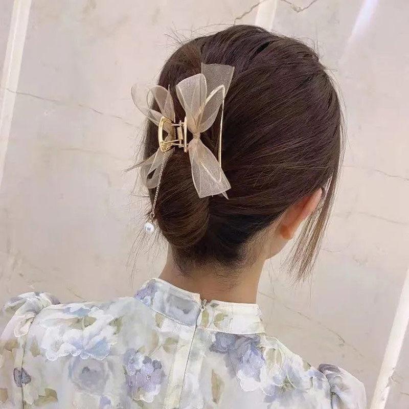 韩国网纱蝴蝶结抓夹