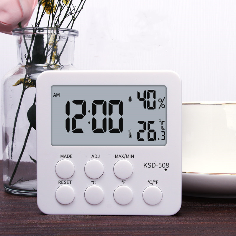 家用室内电子温度计闹钟