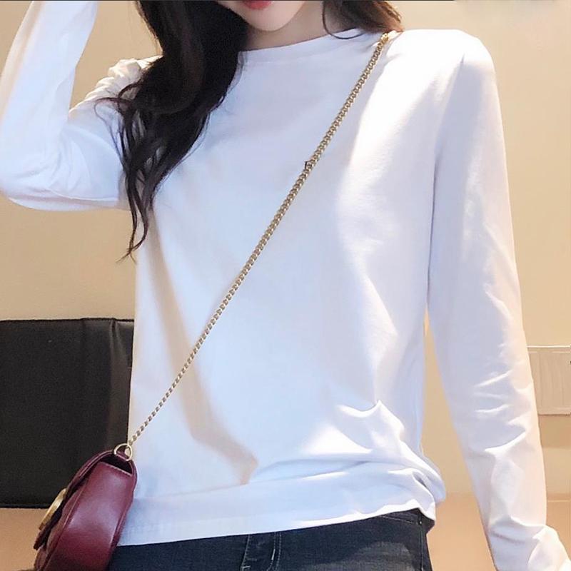 纯棉白色长袖t恤2件