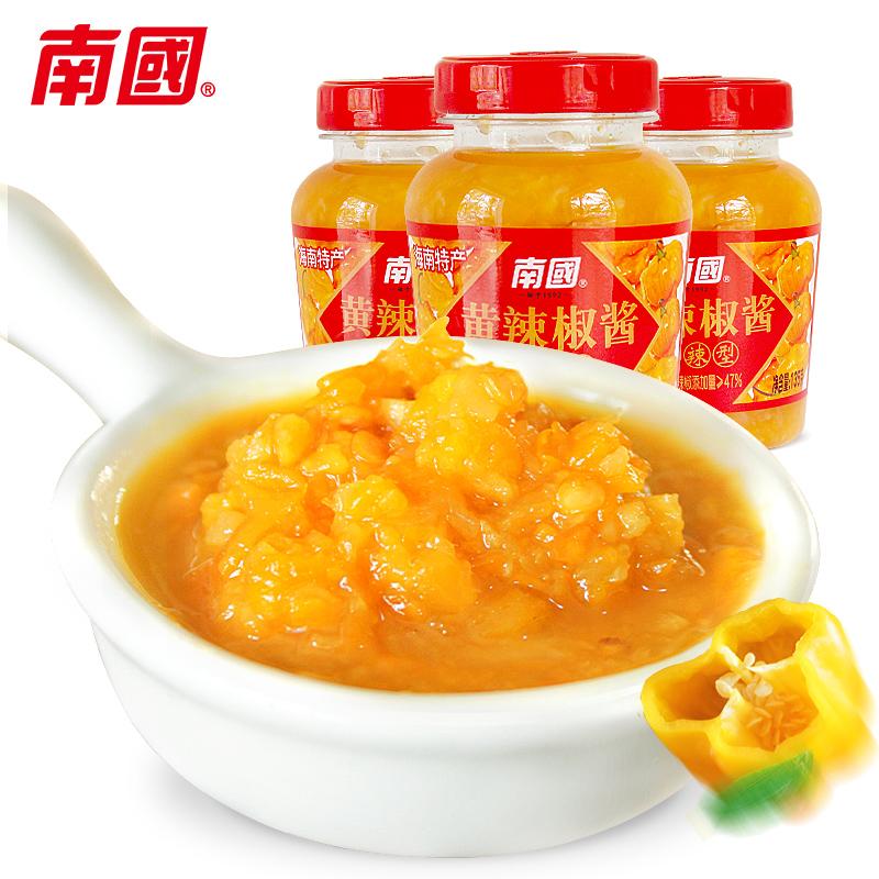 0脂肪黄灯笼辣椒酱135gX3