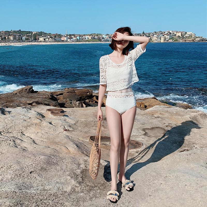 女夏遮肚显瘦连体分体泳衣
